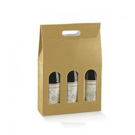 Cutie cadou vin 3 sticle Seta oro